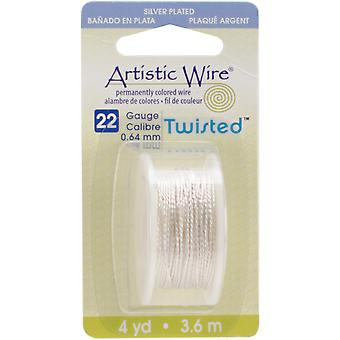 Artistic Wire Twisted Round Non Tarnish Silver 22 Gauge 4Yd Awd22ts1