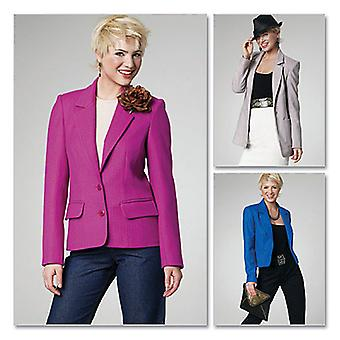 Misses' Lined Jackets In 3 Lengths  Ff 16  18  20  22 Pattern M6172  Ff0