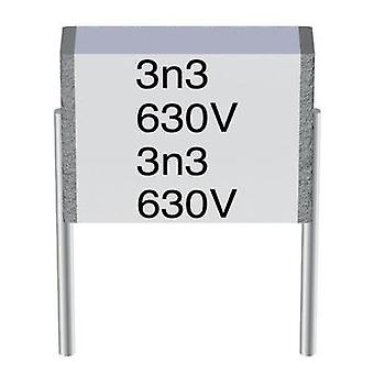 MKT thin film capacitor Radial lead 0.1 µF 100 Vac 10 % 7.5 mm (L x W x H) 9 x 2.5 x 4.7 mm Epcos METALLISIERTER POLYES