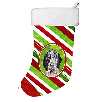 Blue Tick Coonhound Candy Cane Christmas Christmas Stocking