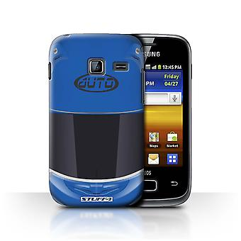 STUFF4 Case/Cover for Samsung Galaxy Y Duos/S6102/Superbike/Blue/Motorcycle Helmet