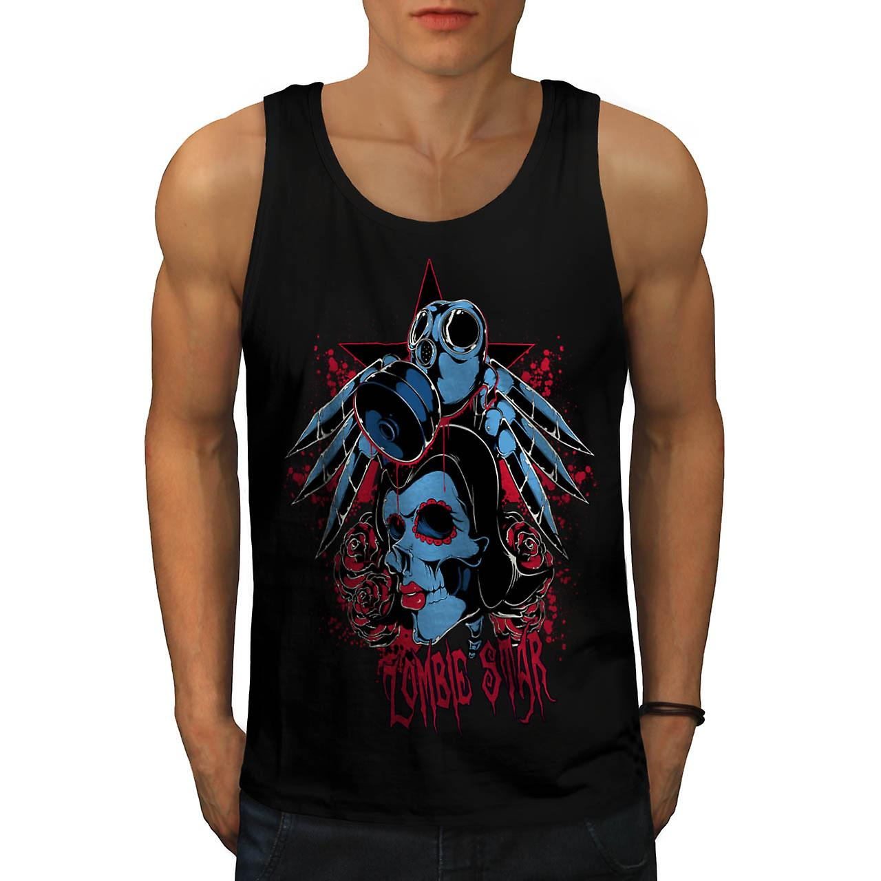 Evil Zombie Star Rise Nightmare Men Black Tank Top | Wellcoda