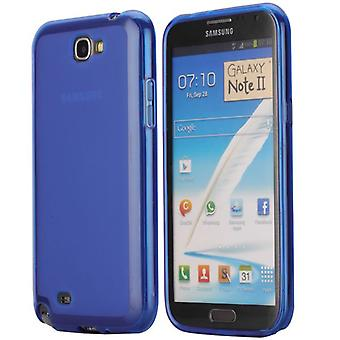 Soft TPU rubber cover for Samsung Galaxy Note 2 (dark blue)