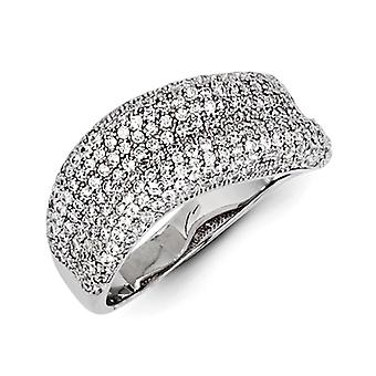 Sterling Silver and CZ Brilliant Embers Ring - Ring Size: 6 to 7