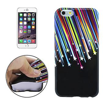 Protective case pouch pouches TPU for phone Apple iPhone 6 plus motif of stars & stripes