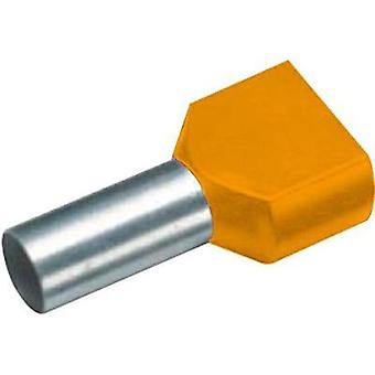 Twin ferrule 2 x 0.50 mm² x 8 mm Partially insulated Orange Vogt
