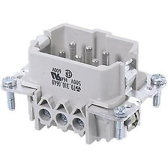 Wieland 70.310.0640.0 70.310.0640.0 Industrial Connector, 6 Pin + PE Connector insert