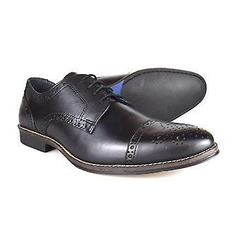 Red Tape Claydon Men's Black Leather Formal Lace-Up Shoes