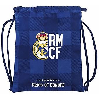 Real Madrid Saco Plano Real Madrid Blue (Toys , School Zone , Backpacks)