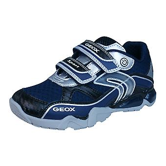Geox J LT Eclipse B Childrens Boys Trainers / Shoes - Navy