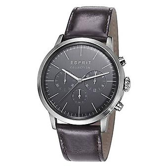 ESPRIT collection mens watch watch Chrono SOTER leather EL102191002