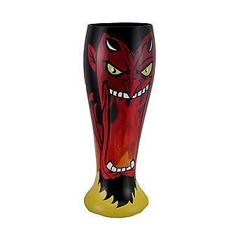 One Hell of a Drink Hand Painted Devil Pilsner Glass
