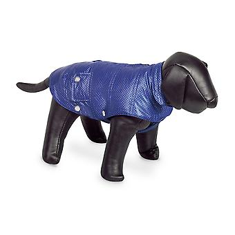 Nobby Danika Dog Coat Blue With Silver Dots 26cm