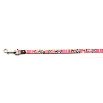Rogz Pupz Nylon Lead Roxi Pink 16mm X1.8m