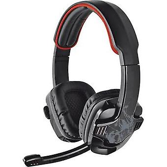 Gaming headset USB Corded Trust GXT 340 Over-the-ear Black/red