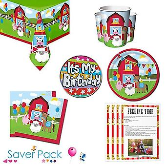 Farmhouse Fun Party Tableware Saver Pack
