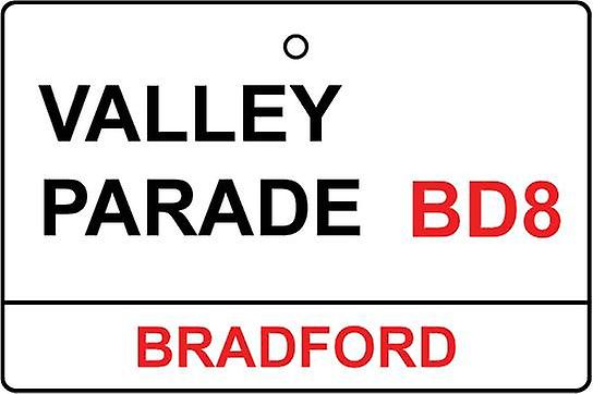 Bradford / Valley Parade Street Sign Car Air Freshener