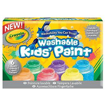 Crayola 6 Washable Metallic Paint Cans
