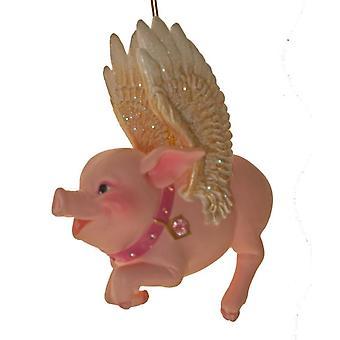 December diamanter når svin flyve svin vinger for søde Glitter ferie Ornament