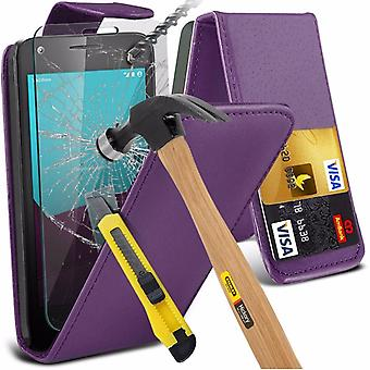 iTronixs - Sony Xperia Z1 Mini Premium Quality PU Leather Flip Cover with Tempered Glass