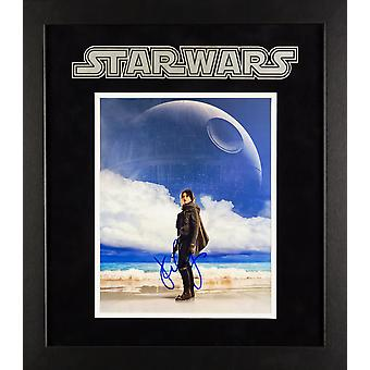Star Wars - Signed Daisy Ridley Movie Photo - Framed Artist Series