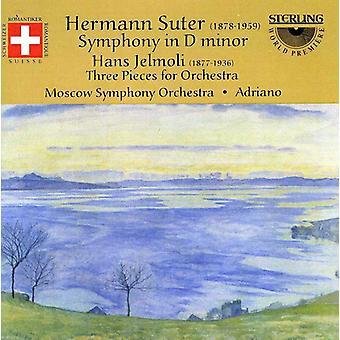 Suter/Jelmoli - Hermann Suter: Symfonien i D-mol; Hans Jelmoli: Tre stykker for orkester [CD] USA importerer