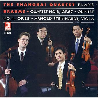 J. Brahms - The Shanghai kvartetten spelar Brahms kvartett nr 3 Op. 67, kvintett No. 1 Op. 88 [CD] USA import