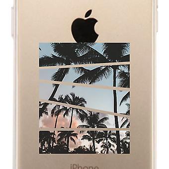 Palm Trees Split Clear Phone Case