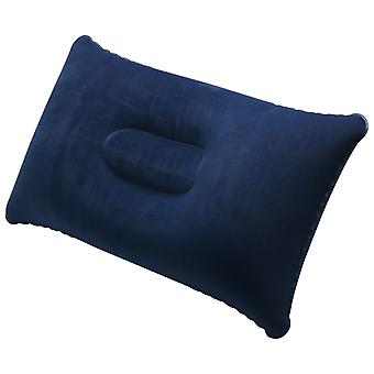 TRIXES Navy Blue Inflatable Camping Pillow Soft Blow-Up Travel Cushion
