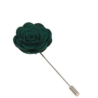 Snobbop revers-corsage flower pin brooch pin dark green