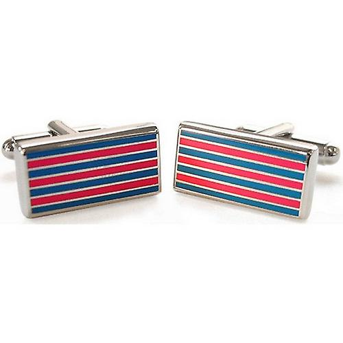 Tyler and Tyler Pinstripe Cufflinks - Pink