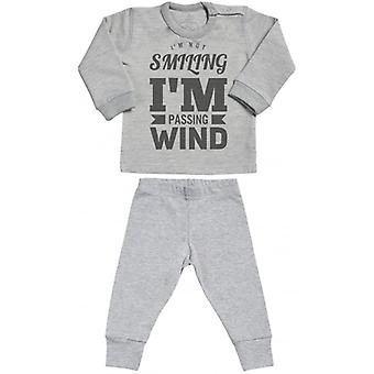 Spoilt Rotten Passing Wind Sweatshirt & Jersey Trousers Baby Outfit Set
