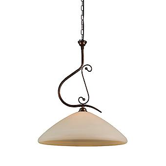 QAZQA Pendant Lamp Lucca 50 with Murano Shade