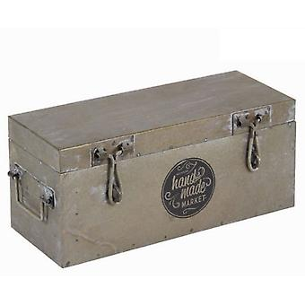 Bigbuy Silver Metal Box - Collection Art &Amp  Metal By Homania