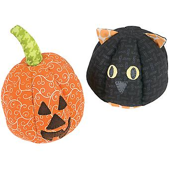 Sizzix Bigz Dies Fabi Edition-Cat/Pumpkin By Kid Giddy 661277