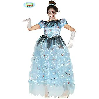 Las mujeres trajes de disfraz de princesa Cenicienta Halloween zombie