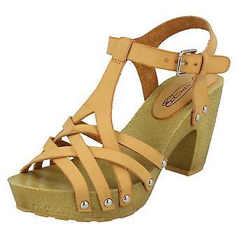 Womens Heeled Buckle Sandals F10534