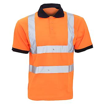 Yoko Hi-Vis Short Sleeve Polo Shirt / Mens Workwear