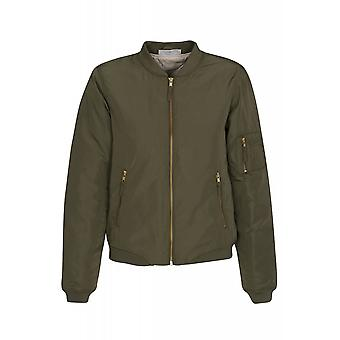 Noisy may space universe L / S jacket ladies bomber jacket Green
