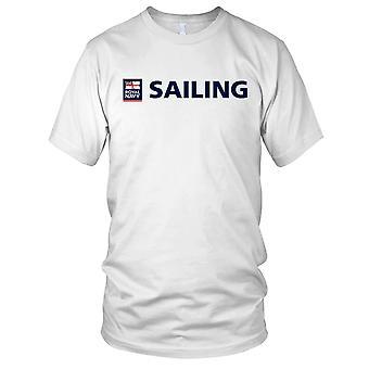 Royal Navy Sailing große Brust Herren-T-Shirt