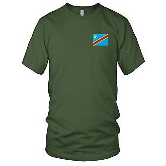 Kongo nasjonale flagg - brodert Logo - 100% bomull t-skjorte Mens T-skjorte