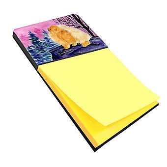 Pomeranian Refiillable Sticky Note Holder or Postit Note Dispenser