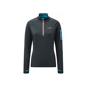 Stride Winter 1/2 Zip Womens Running Long Sleeve Top Grey