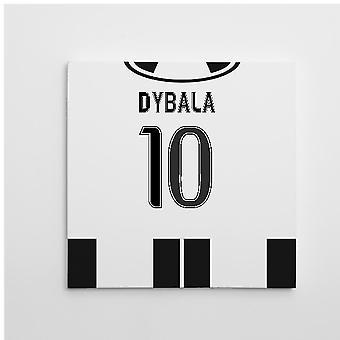 2016-2017 Juventus Canvas Print (Dybala 10)