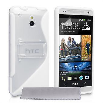 Caseflex HTC One Mini Gel Stand Case - White
