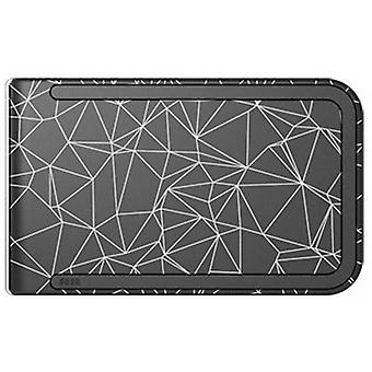dosh Luxe Constellation Print Wallet - Black/Grey