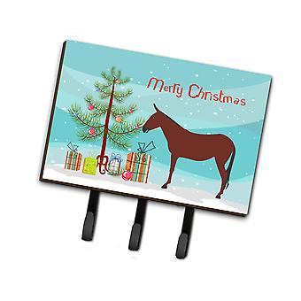 Carolines Treasures  BB9217TH68 Hinny Horse Donkey Christmas Leash or Key Holder