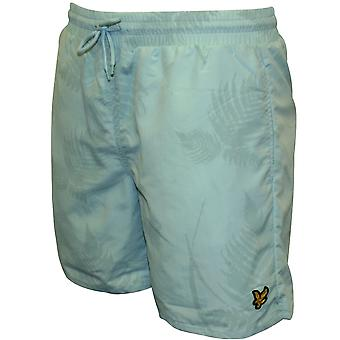 Lyle & Scott Fern Print Swim Shorts, Powder Blue