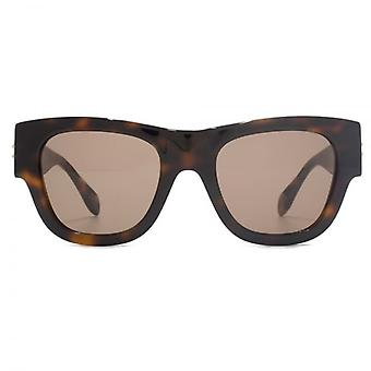 Alexander McQueen Edge Retro Style Sunglasses In Havana
