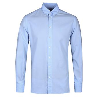 Hackett London Garment Dyed Baby Blue Delave Oxford Shirt